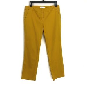 New York & Co Mustard Yellow Stretch Work Pants